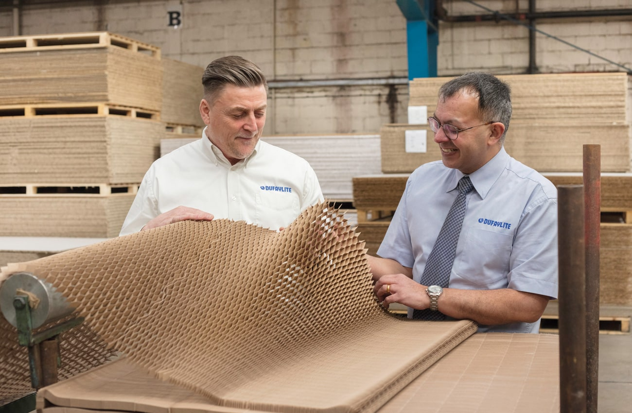 Tom Bewley, Operations Director and Paul Gill, Head of Sales, Dufaylite