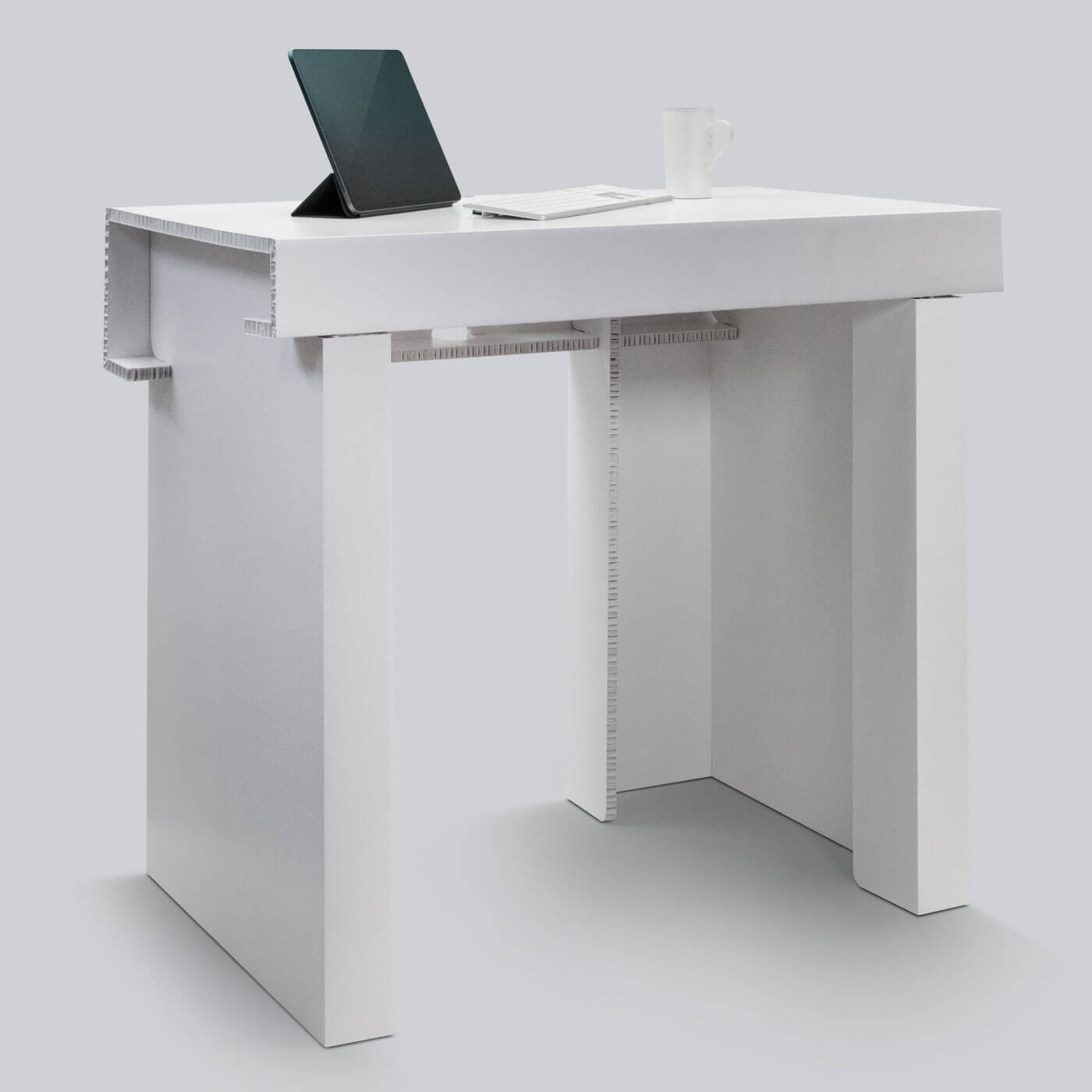 Temporary but durable desk for working from home and home schooling