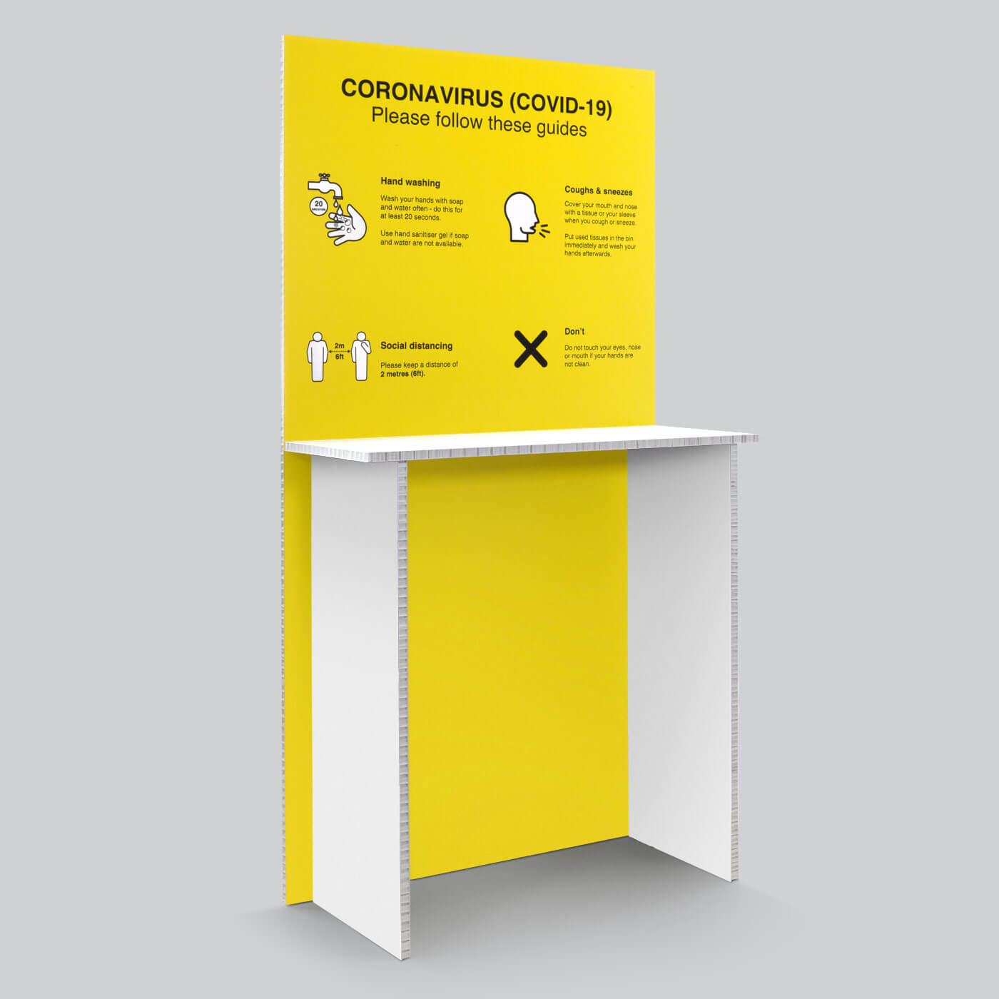 Coronavirus (Covid-19) cleaning station