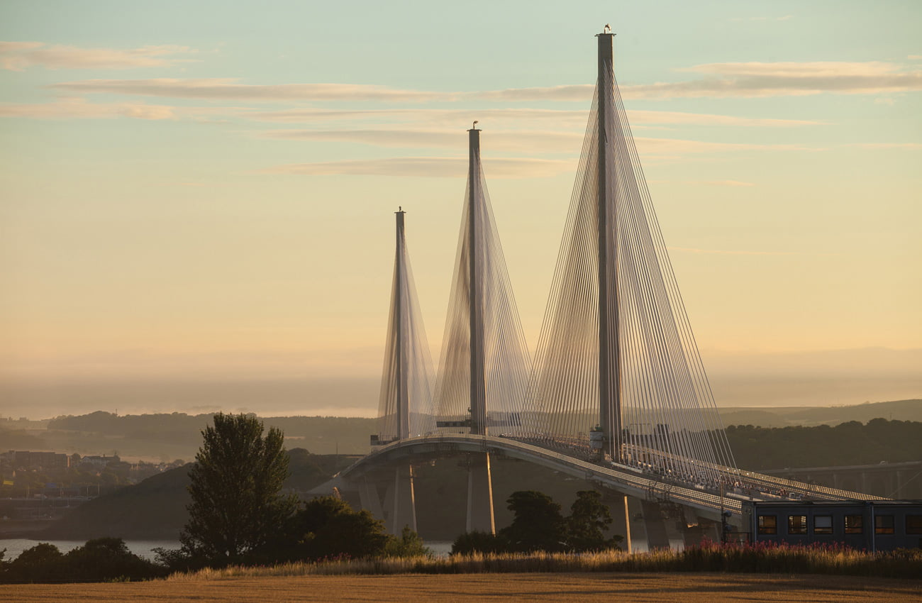 Queensferry Crossing from South, use Dufaylite Clayboard