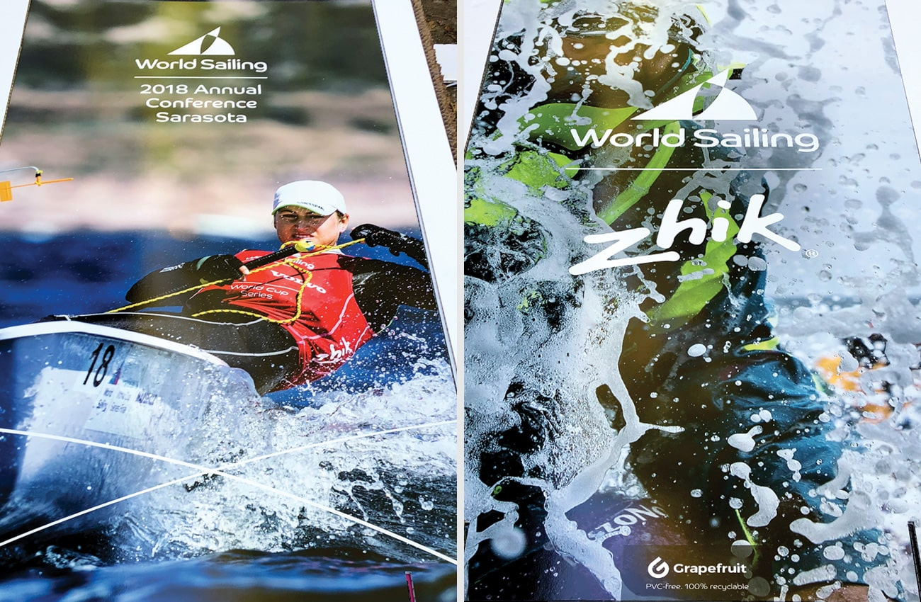 Lightweight eco-friendly information panels for World Sailing Annual Conference