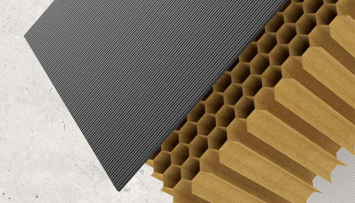 Maximum strength paper honeycomb void by Dufaylite, solving ground movement issues
