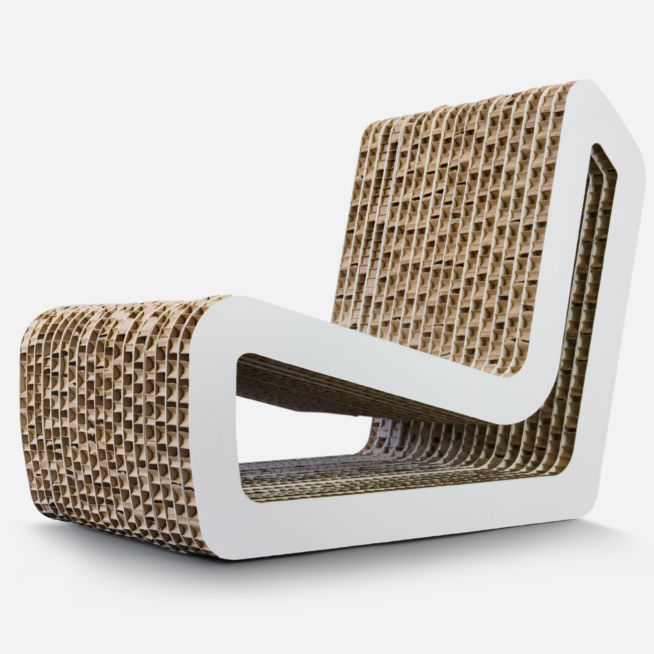 Chair by Dufaylite made from honeycomb paper board